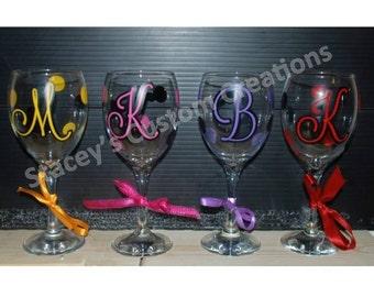 Initial Wine Glasses