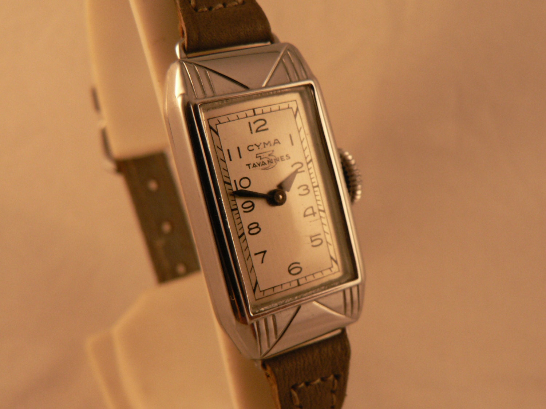Cyma tavannes wrist watch art deco ladies 15j by for Minimal art wrist watch