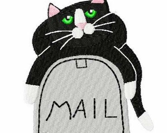 Mail Call Cat Embroidery Design