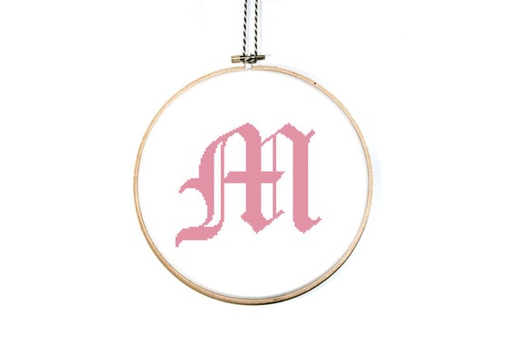 Items Similar To Letter M Cross Stitch Pattern