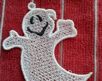 Halloween Lace Ghost Ornament Decor