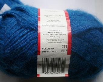 Blue Brushed Yarn   Knitting Yarn  Crochet Yarn  Turkish Yarn Partial Skeins