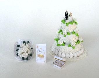 wedding stuff for bride - dollhouse miniature