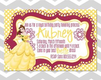 Princess Belle Birthday Card/Invitation