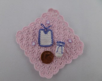 Bib and bottle cover {hull} knows/purple