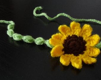 Newborn Headband, Newborn photo prop, baby headband, sweet Crocht headband flowers crochet headband red yellow flowers Hair Accessories