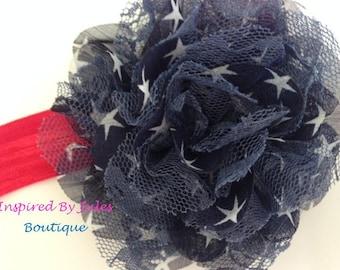 4th of July Baby Girl Star Headband
