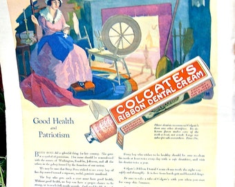 "Antique 1922 Magazine ""The Youth's Companion"" Advertisements and features American Historic Events..Back cover Colgate Ad. Inside many more"