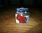 Wisconsin State Land O Lakes Tourist Lighter - Made in Japan
