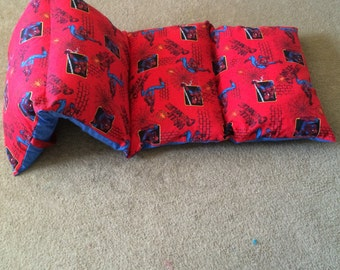 Spiderman In Red And Blue Pillow Mat Nap Bed A Bit Of