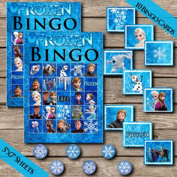Frozen Bingo Digital Download Frozen Game Party Game