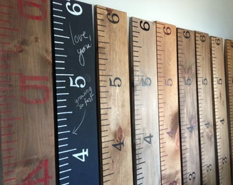 Handmade wooden growth chart