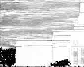 DETROIT Michigan LDS Temple (Original Drawing) Modern Ink Lines
