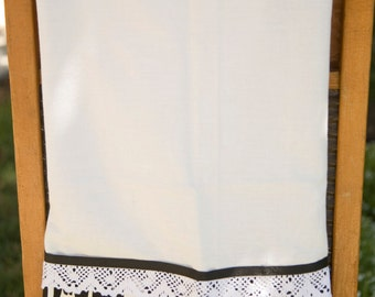 Black and white Utensils Print Flour Sack Towel