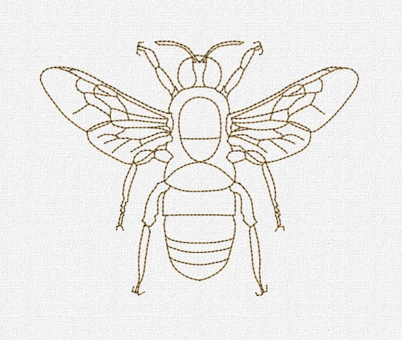 Embroidery Bee Pattern Ausbeta