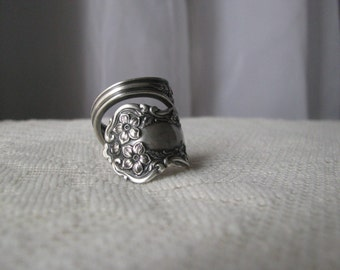 Spoon Ring, Spoon Jewelry, Antique Silver Plated Spoons, Chester by Wm Rogers, 1900,  Hard to Find
