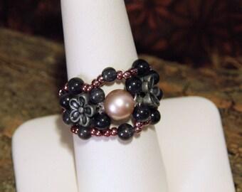 Swarovski Pearl Beaded Ring