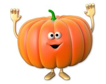 Wall decals vegetable pumpkin A256 - Stickers légume potiron A256