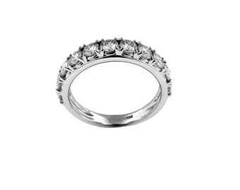 1.10TCW Charles and Colvard Moissanite Band
