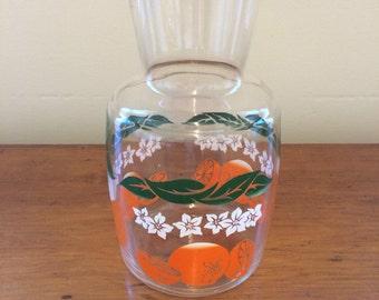 Vintage Orange Juice Carafe Bottle.  Made in the USA