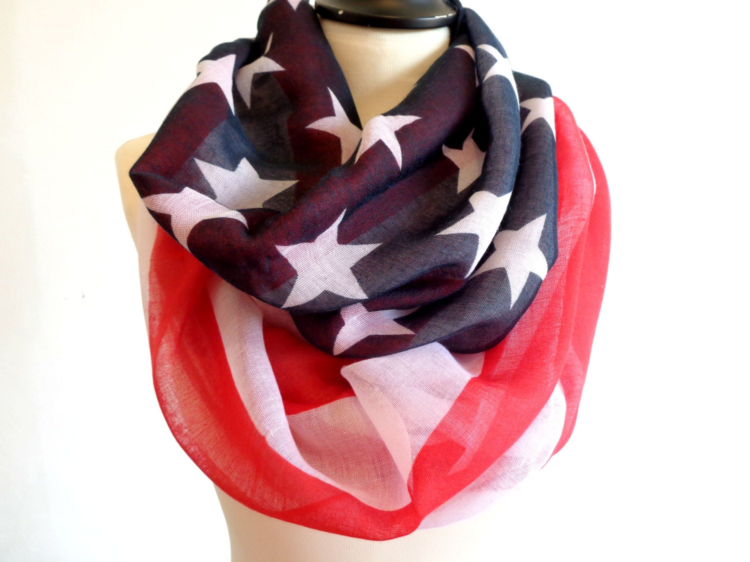 infinity scarf american flag scarf chunky infinity scarves