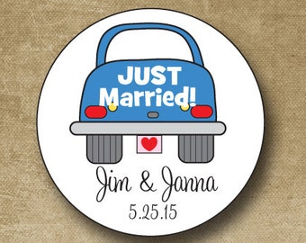 Personalized Wedding Stickers, Custom Wedding Labels, Wedding Favor Stickers, Just Married Stickers, Buffet Stickers, Envelope Seals