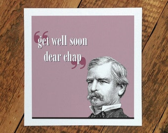 Get Well Soon Card For Him; 'Get Well Soon Dear Chap'; GC221