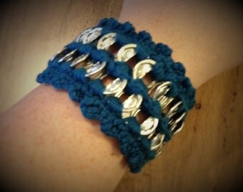 Crochet and Pop Tab Bracelet