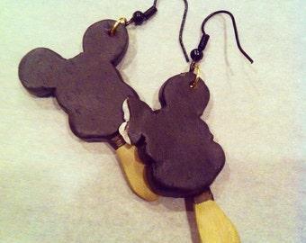 Handmade Disneyland Mickey Mouse Ice Cream Bar Earrings