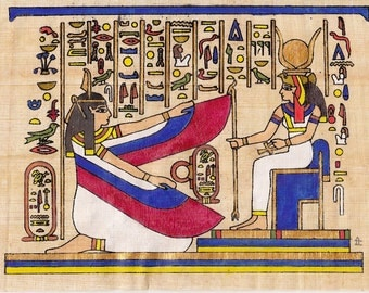 Egyptian Scene on Papyrus (a)