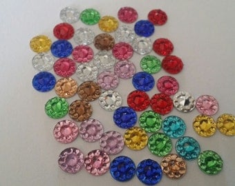 6mm flat back resin/mixed colors/wholesale