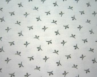 Green & Cream Calico Fabric -Darlene Zimmerman - Chanteclaire - 2 Yard Only