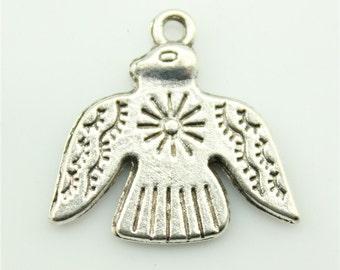 20pcs 21×20mm Thunderbird charms antique silver tone pendant B10365