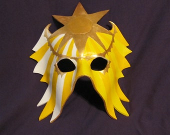 Helios - leather masquerade sun mask