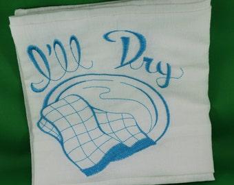 Embroidered Ill Dry Teatowel