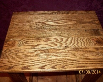 """Reclaimed Oak end table """"Ready to Ship"""""""