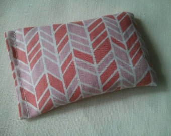 Organic Cotton Catnip Pillow - GOTS certified Organic Cotton - Pink zig zag