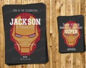 Ironman Birthday Invitations and Thank You Cards - The Avengers