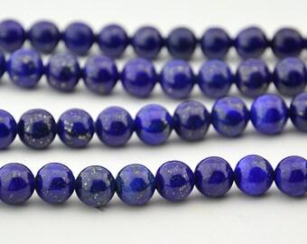 16 inch Full strand  Lapis Lazuli  8mm  Round  Bead