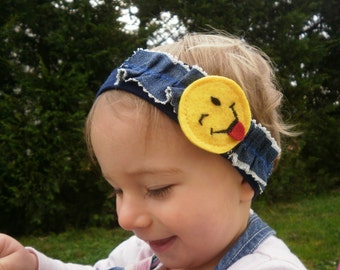 baby headband children with smiley smile wink language and drawing !!!