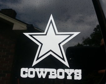 Dallas Cowboys car window sticker decal in white