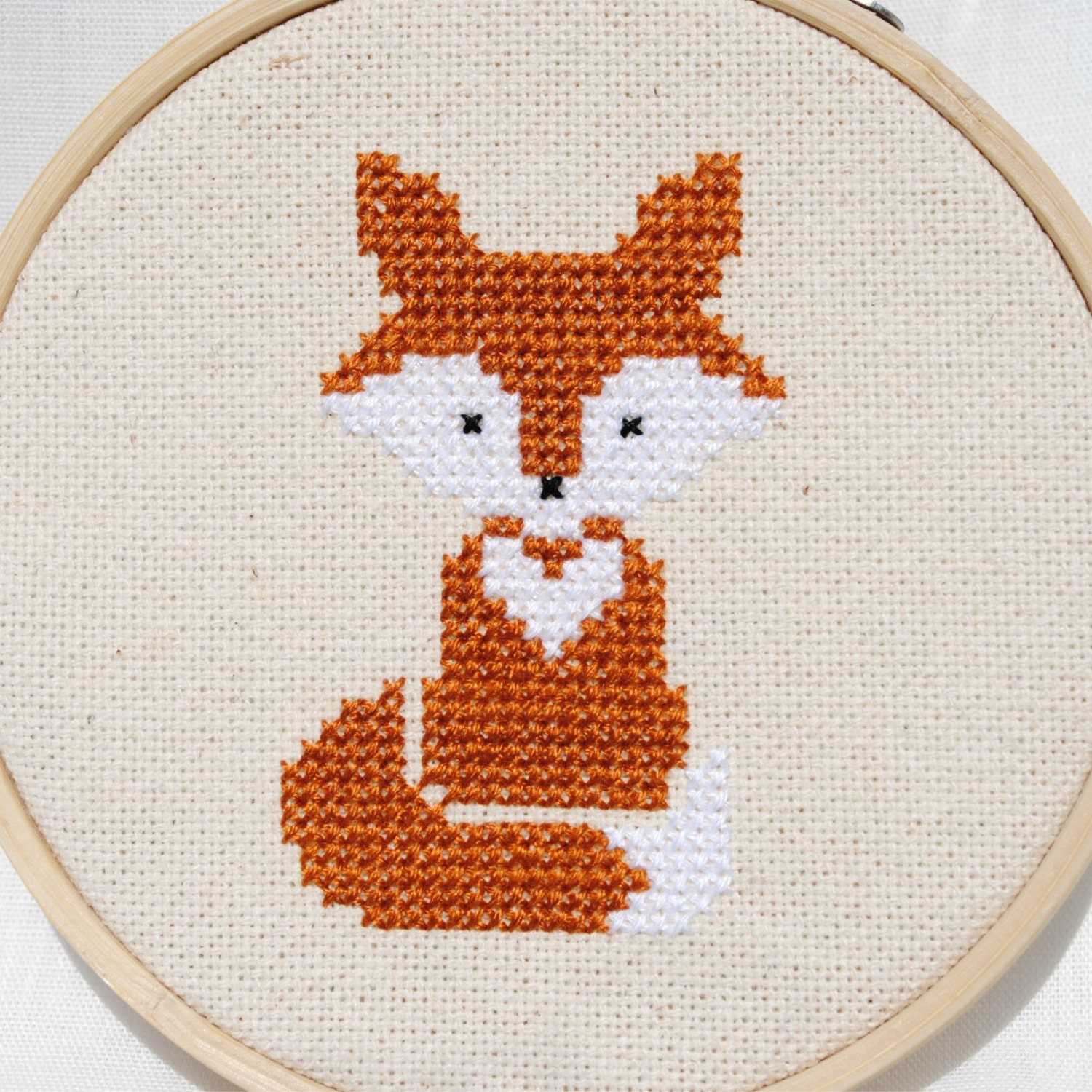 Fox Cross Stitch Pattern Pdf Forest Animals Modern Nursery