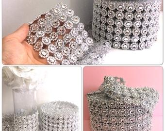 Diamond mesh, rhinestones mesh, diamond mesh ribbon