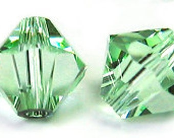 Swarovski 4mm Bicone - Chrysolite - Pack 20