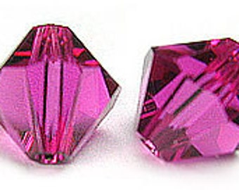 Swarovski 5mm Bicone - Fuschia - Pack 20