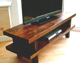 diy rustic tv stand plans