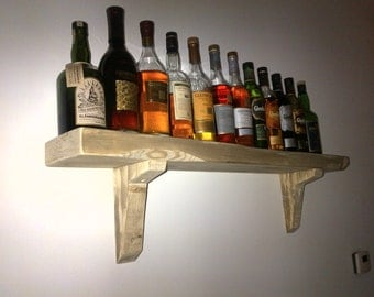 Hand made chunky rustic shelves 011