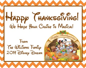 Mickey Thanksgiving Gift Tag/Label - Printable!
