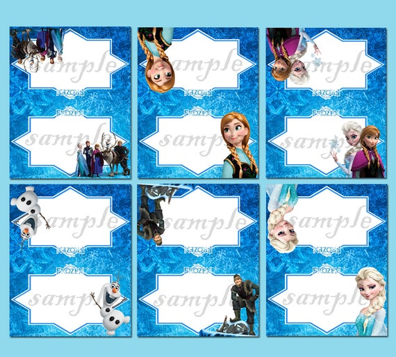 Instant Download Disney Frozen Food Tent Label-Frozen