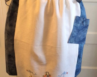 Vintage Embroidery Apron